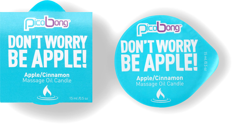 "PicoBong Massage Oil Candle ""Don't Worry Be Apple!"" - Apple & Cinnamon"