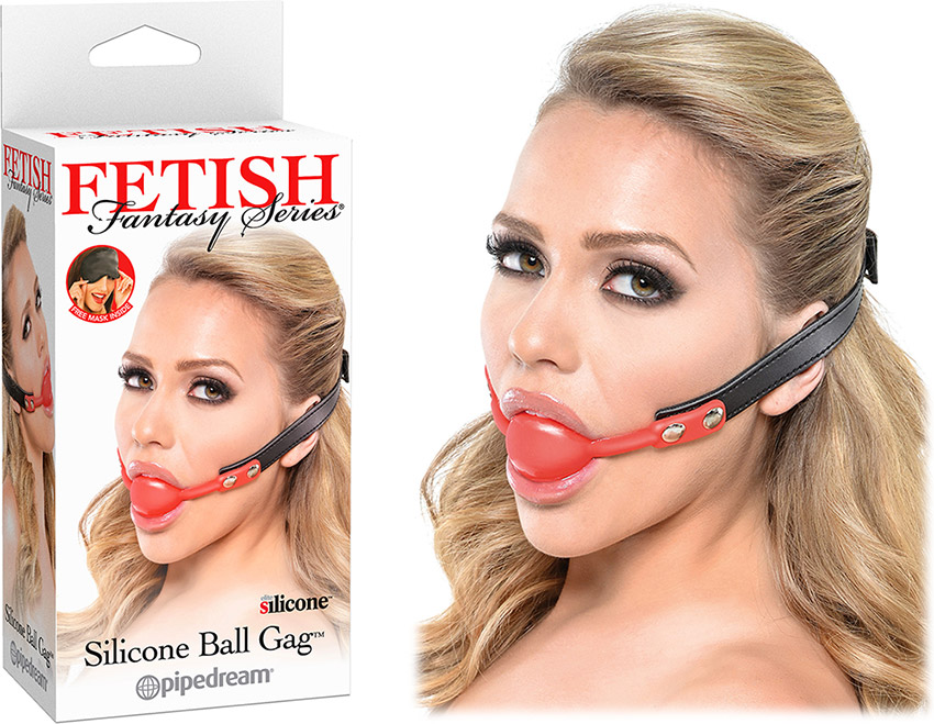 Fetish Fantasy Silicone Ball Gag - Black & red