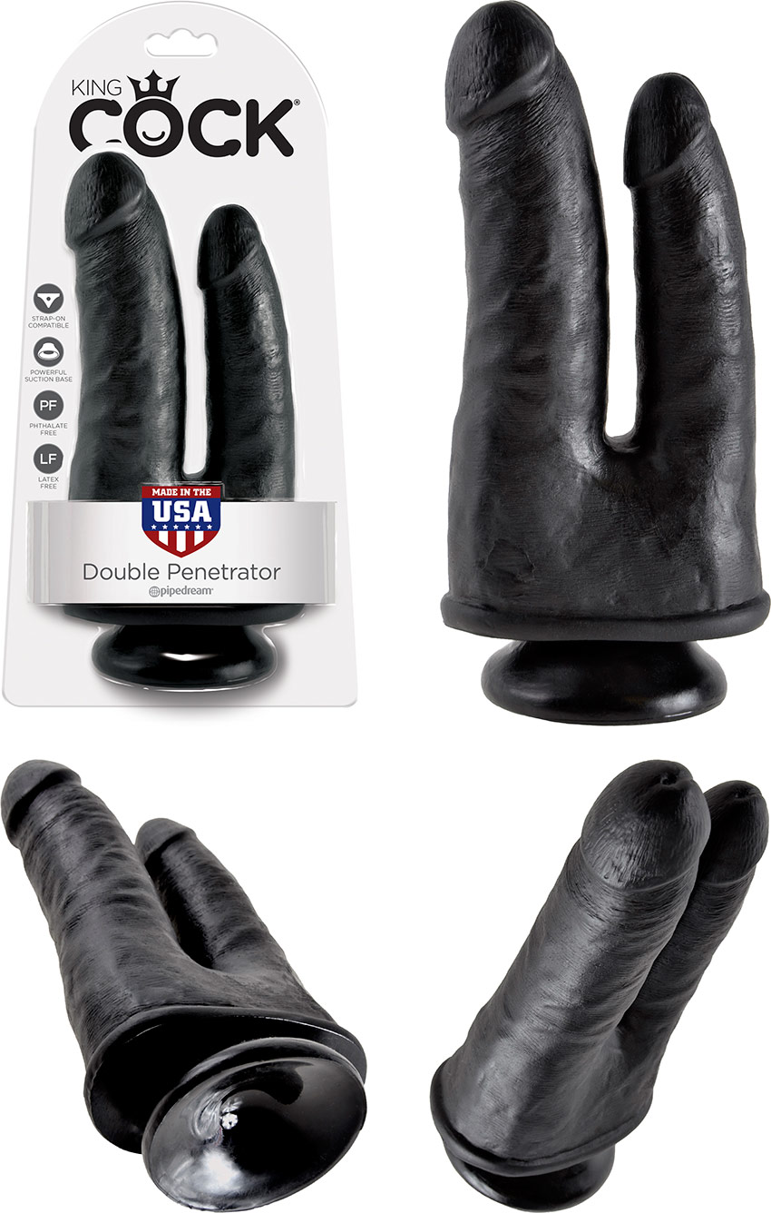 Pipedream King Cock Double Penetrator dildo - Black
