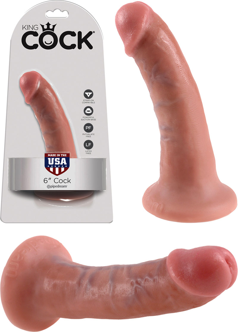 King Cock RealDeal Realistic Cock - 14 cm - Beige