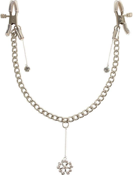 Fetish Fantasy Crystal Nipple Chain Clamps