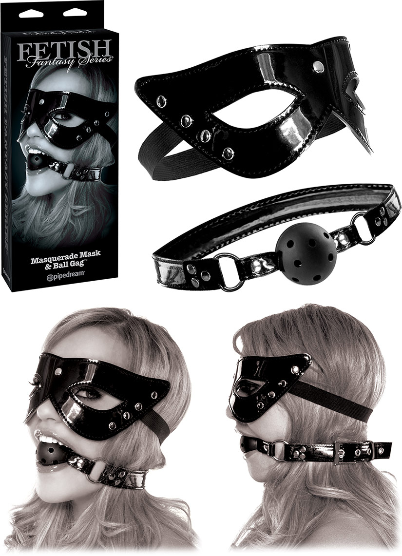 Fetish Fantasy Masquerade Mask & Breathable Ball Gag
