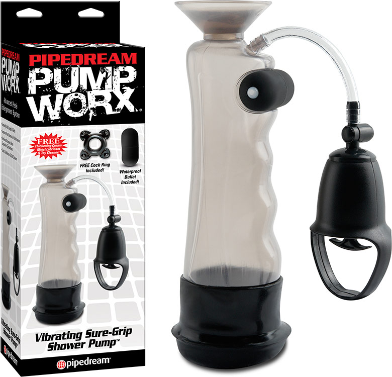Pipedream Pump Worx Vibrating Sure-Grip Shower Pump