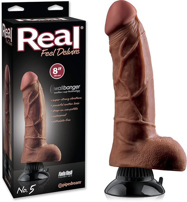 Pipedream Real Feel Deluxe No 5 vibrator - 20 cm (Brown)