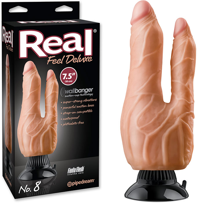 Pipedream Real Feel Deluxe No 8 Double Penetrator (White Skin)