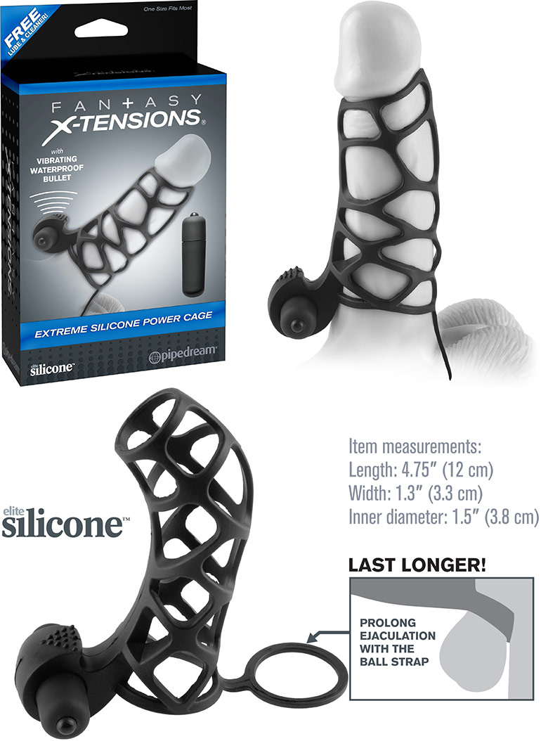 Pipedream X-Tensions Extreme Vibrating Power Cage