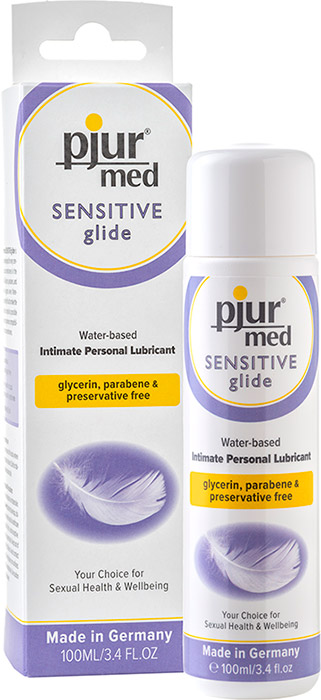 Lubrifiant pjur Med Sensitive glide - 100 ml (à base d'eau)