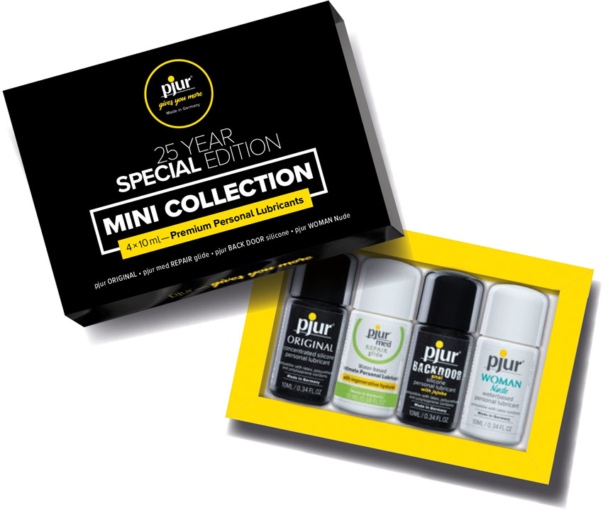 Pjur Collection 25ème anniversaire (4 lubrifiants de 10 ml)