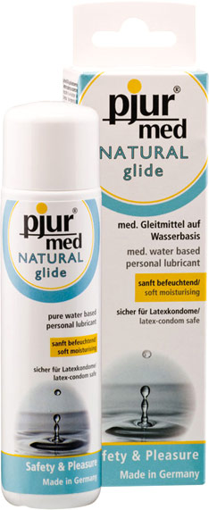 pjur Med Natural Glide Lubricant - 100 ml (Water-based)