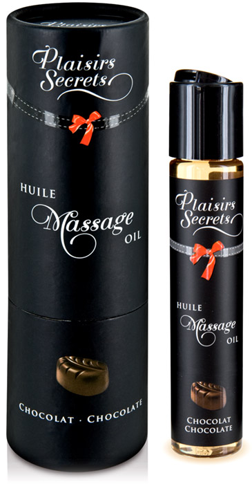 Huile de massage comestible Plaisirs Secrets - Chocolat