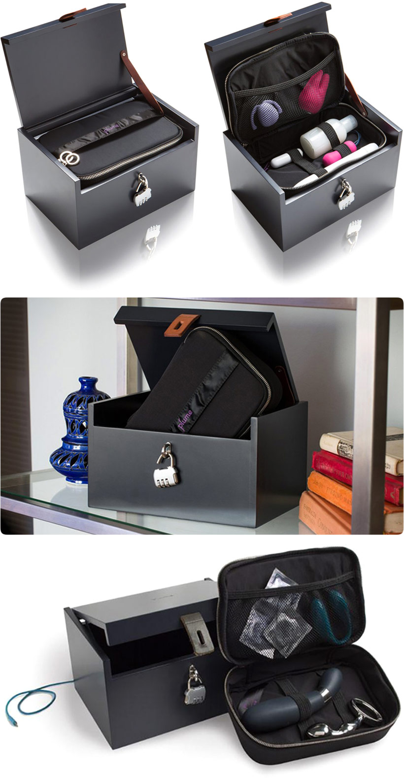 Moi Box Deluxe storage case for sex toys - Black
