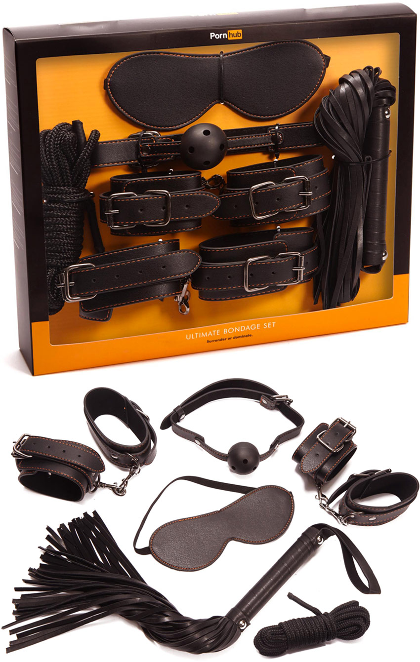 Pornhub Ultimate Bondage Set, box set of bondage accessories