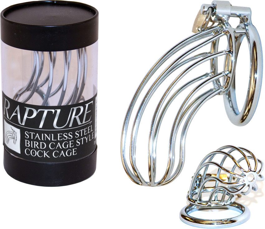 Rapture Stainless Steel Bird Cage Style Cock Cage