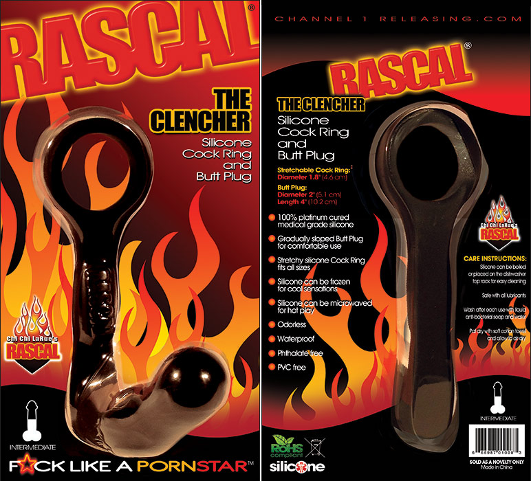 Rascal The Clencher - Penisring und Anal-Plug
