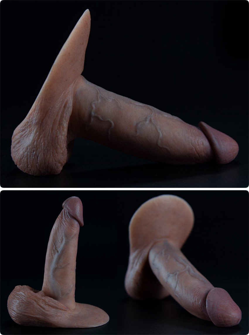 Godemichet ultra réaliste en silicone RealCock 2 Rockwell - 15 cm
