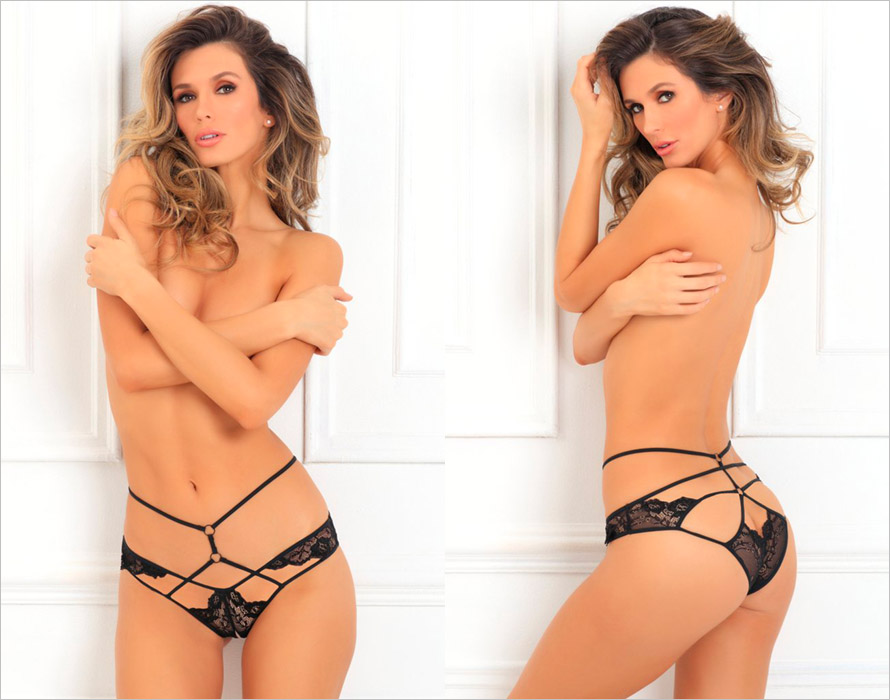 René Rofé Panty ouvert Own It - Noir (S/M)