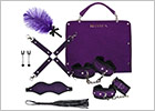 Rianne S Kinky Me Softly bag with bondage accessories - Purple