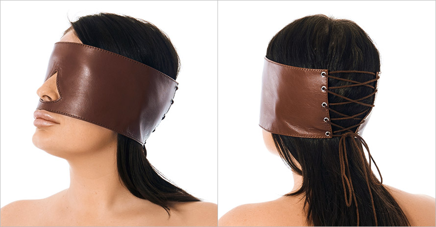 Rimba real leather wide blindfold