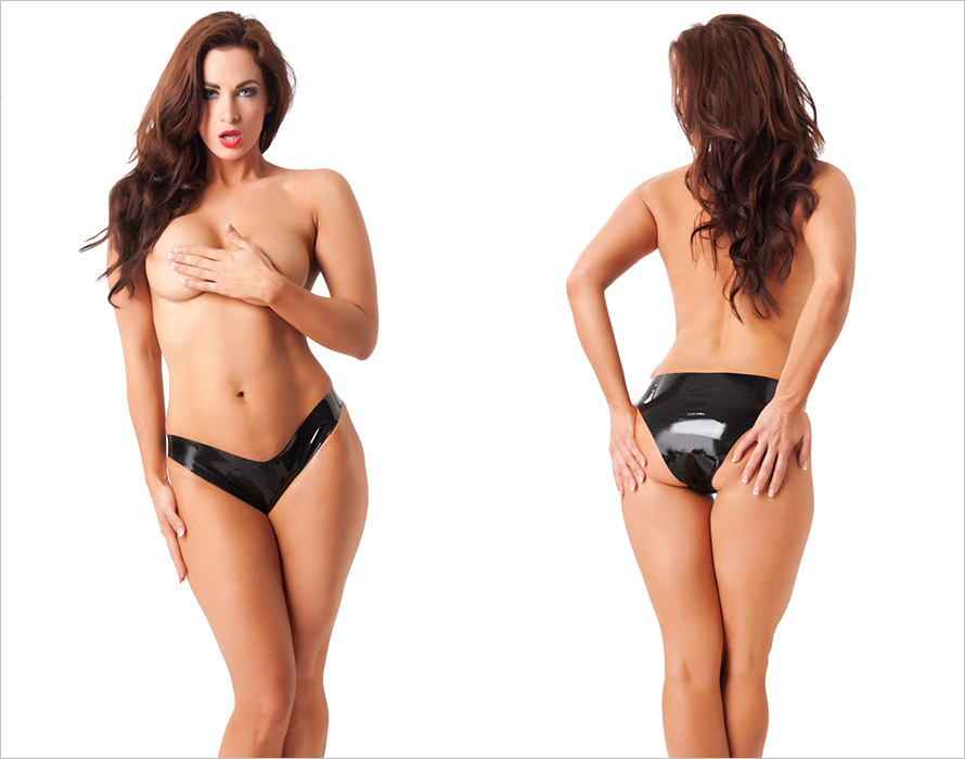 Rimba Latex Panties - Black (M)