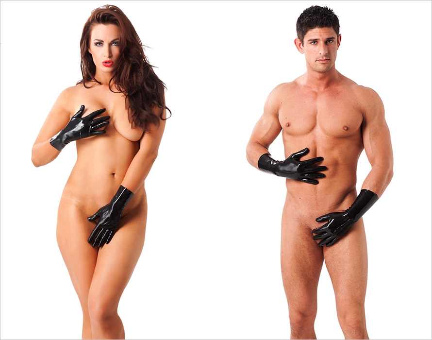 Rimba short latex gloves - Black (M)