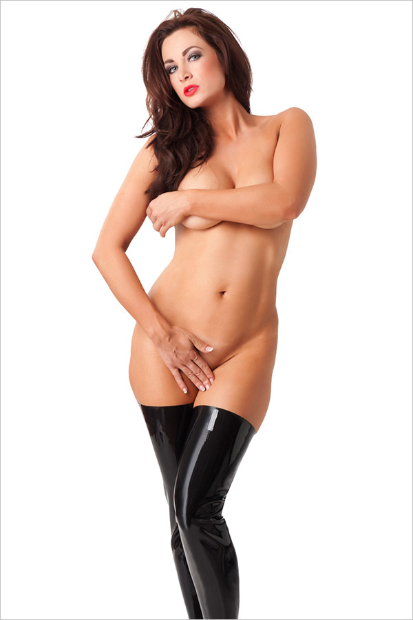 Rimba Latex Stockings - Black (M)