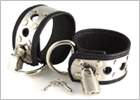 Rimba handcuffs in leather and metal with padlocks