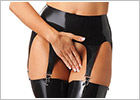Rimba latex suspender belt - Black (M)