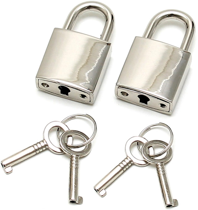 Small metal padlock (2 pieces)