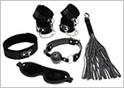 Set of BDSM accessories for beginners - Black