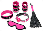 Set of BDSM accessories for beginners - Pink and black