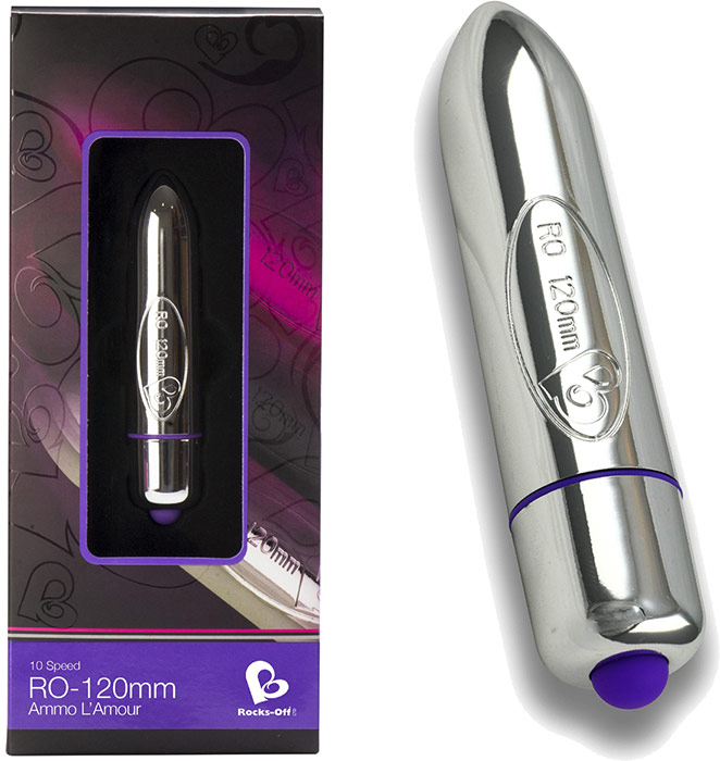 Rocks-Off RO-120mm vibrator - Silver