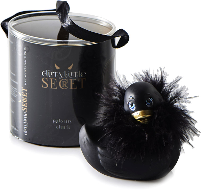 "Rub My Duck ""Dirty Little Secret"" vibrierende Ente - Schwarz (Mini)"