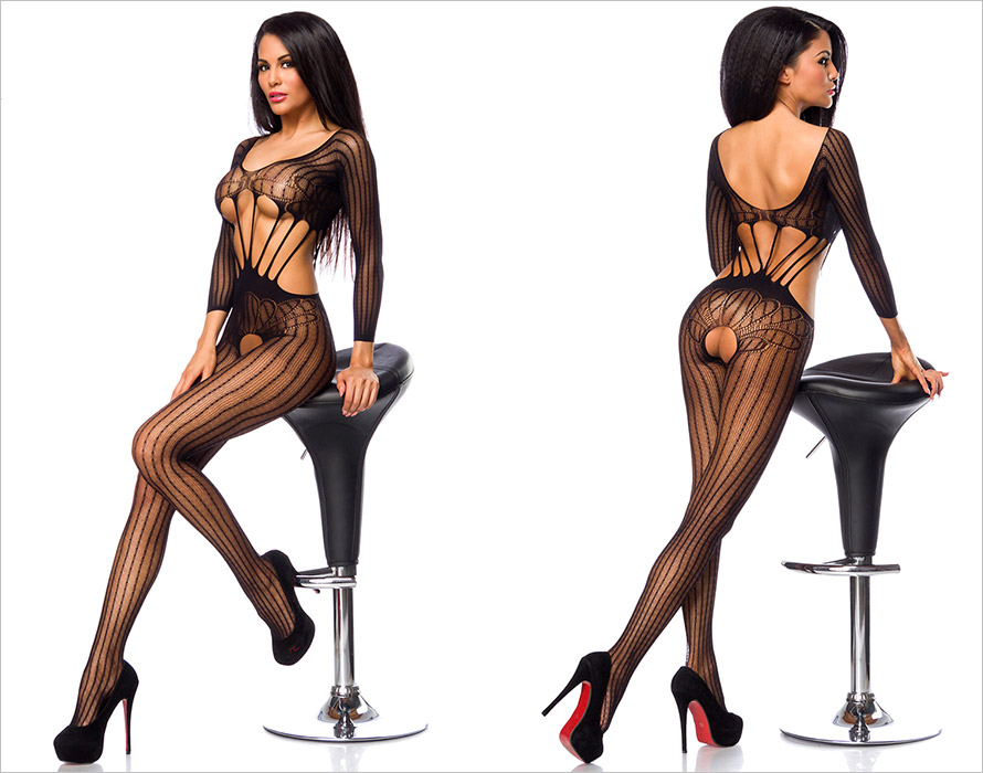 Saresia Bodystocking Temptlife Pure - Black (S/L)