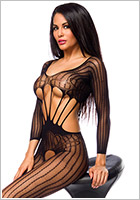 Saresia Bodystocking Temptlife Pure - Schwarz (S/L)