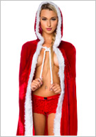 Mother Christmas cape with hood (S/XL)
