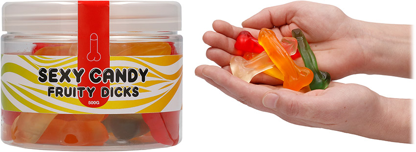 Sexy Candy Fruity Dicks penis-shaped sweets - 500 g