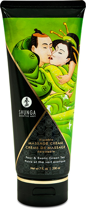 Shunga Kissable Massage Cream - Pear & Green Tea