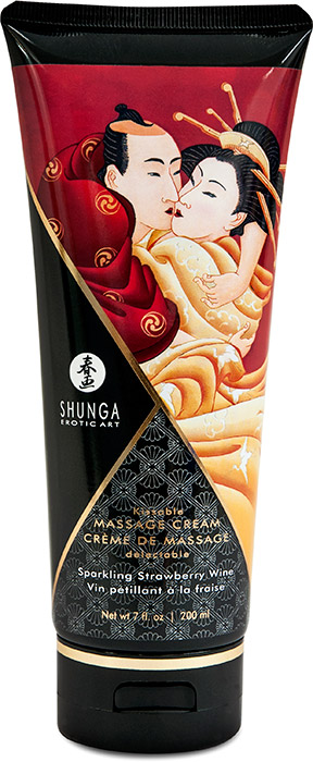 Shunga Kissable Massage Cream - Sparkling Strawberry Wine