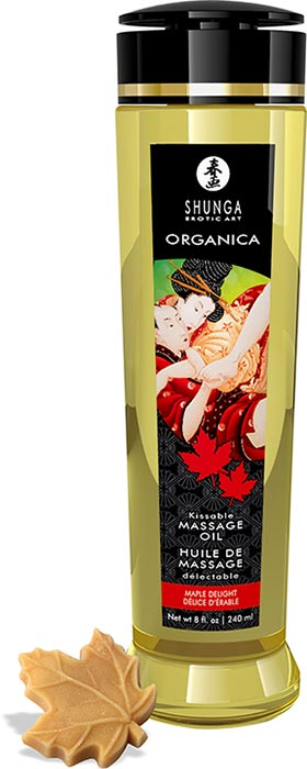 Shunga Organica organic massage oil - Maple Delight - 240 ml