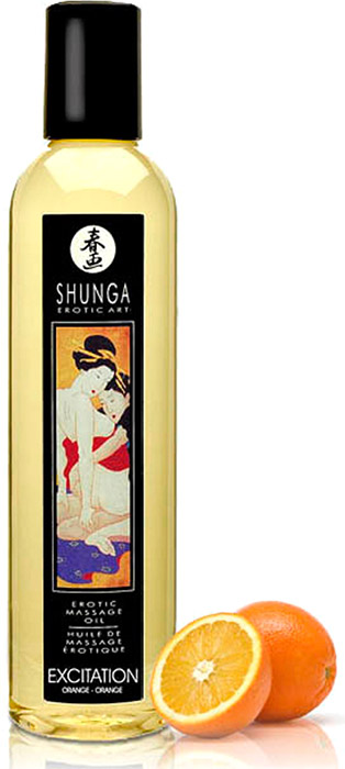 Huile de massage érotique Shunga Excitation - Orange
