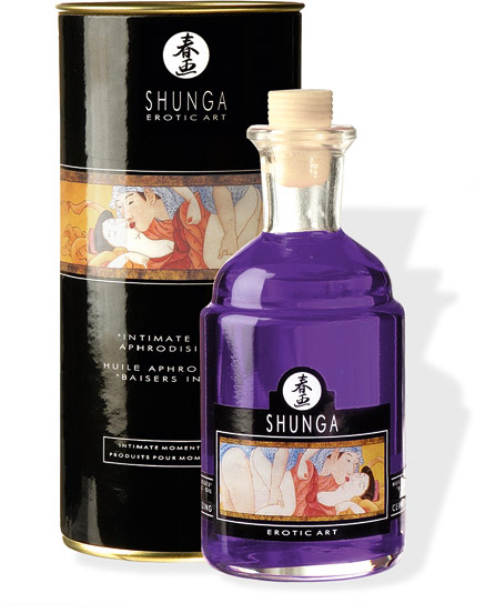 Shunga Intimate Kisses Massage Oil - Grapes