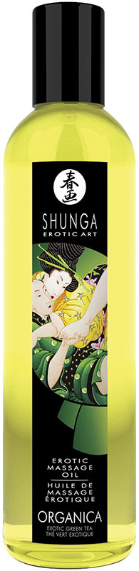 Shunga Organica Erotic Massage Oil - Green Tea