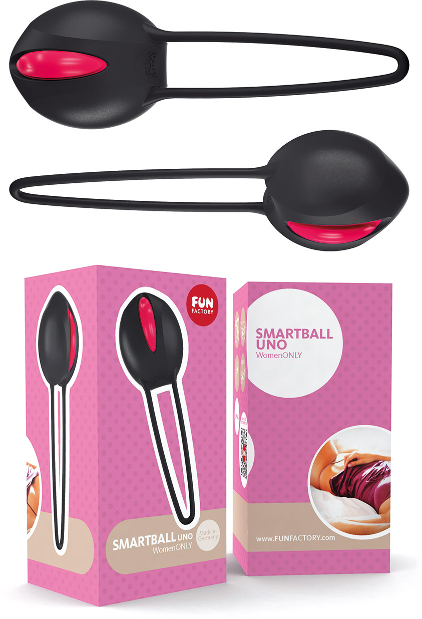 Fun Factory SmartBalls Uno Vaginal Ball - Black & red