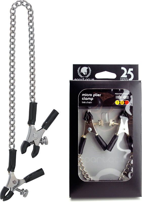 Spartacus Micro Plier Nipple Clamps with Link Chain