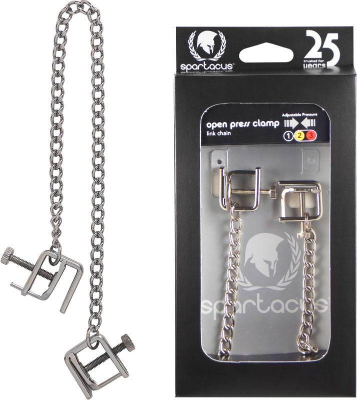 Spartacus Press Nipple Clamps with Link Chain