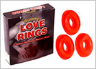 Gummy Love Rings - Penis-ring in jelly gum - 3 pcs