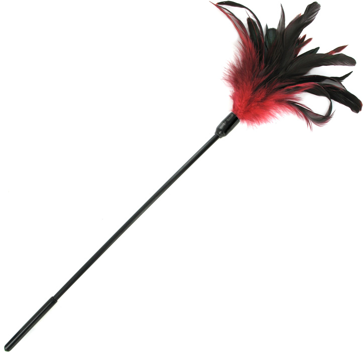 Plumeau Sportsheets Starburst Feather Body Tickler - Rouge