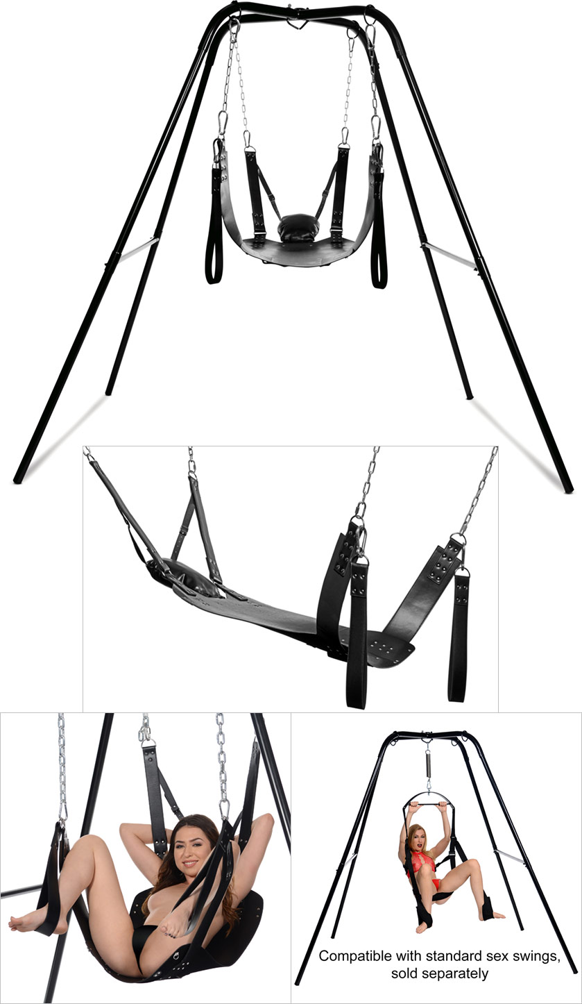 BDSM Strict Extreme Sling & Stand metal stand and harness