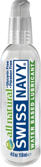 Swiss Navy All Natural Gleitmittel - 118 ml (Wasserbasis)