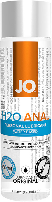 System JO H2O Anal Lubricant - 120 ml (water based)